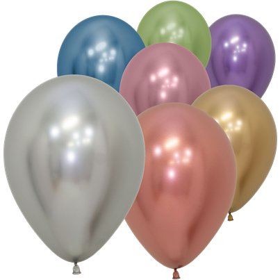 "Assorted Reflex Balloons - 5"" Latex"