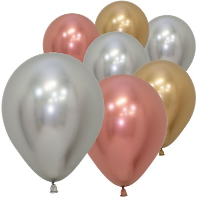 "Deluxe Assorted Reflex Balloons - 5"" Latex"