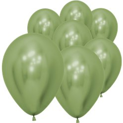 "Lime Green Reflex Balloons - 5"" Latex"
