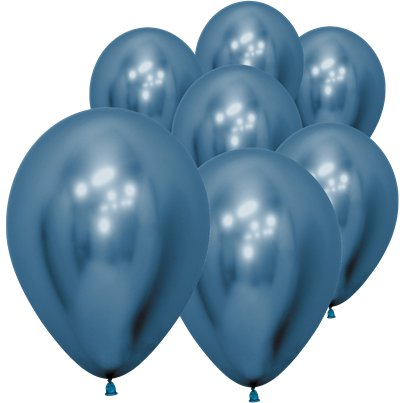 "Blue Reflex Balloons - 5"" Latex"