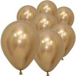 "Gold Reflex Balloons - 5"" Latex"