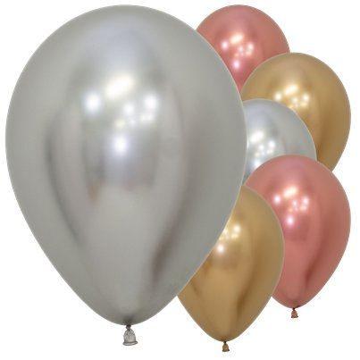 "Deluxe Assorted Reflex Balloons - 12"" Latex"