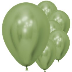 "Lime Green Reflex Balloons - 12"" Latex"