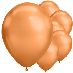 "Copper Chrome Balloons - 11"" Latex"