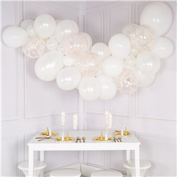 White Elegance Bubblegum Balloon Cloud Kit