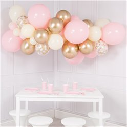 Baby Pink & Gold Bubblegum Balloon Cloud Kit