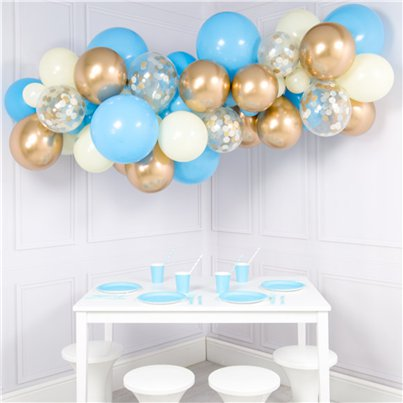 Baby Blue & Gold Bubblegum Balloon Cloud Kit