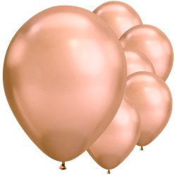 "Rose Gold Chrome Balloons - 11"" Latex"