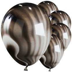"Black Marble Balloons - 11"" Latex"