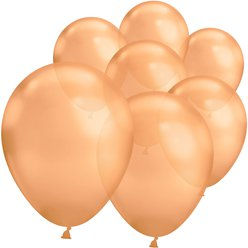 "Copper Chrome Balloons - 7"" Latex"