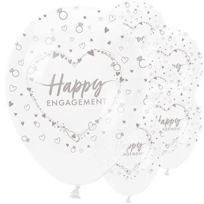 "Engagement Balloons - 12"" Latex"