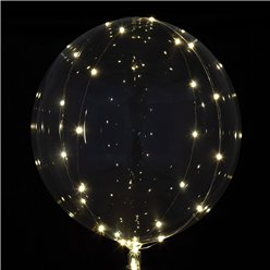 Crystal Clearz White LED Balloon - 18""