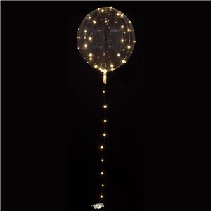 Crystal Clearz White LED Balloon - 32