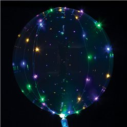 Crystal Clearz Multi Colour LED Balloon - 18""