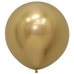 "Reflex Gold Balloons - 24"" Latex"