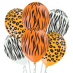 "Animal Print Assorted Balloons - 11"" Latex"