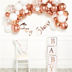 Rose Gold Balloon Arch Garland