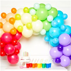 Rainbow Balloon Arch Garland