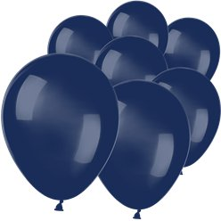 "Navy Blue Mini Balloons - 5"" Latex"