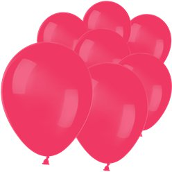 "Raspberry Red Mini Balloons - 5"" Latex"