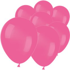 "Neon Magenta Pink Mini Balloons - 5"" Latex"
