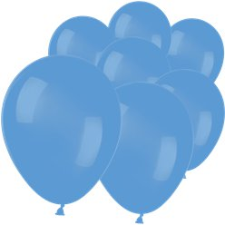 "Neon Blue Mini Balloons - 5"" Latex"
