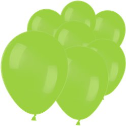 "Neon Green Mini Balloons - 5"" Latex"