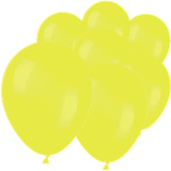 "Neon Yellow Mini Balloons - 5"" Latex"