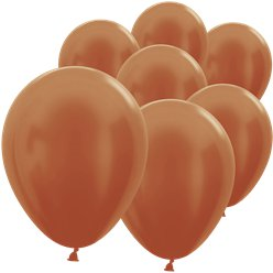 "Copper Mini Balloons - 5"" Latex"