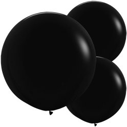 "Black Balloons - 24"" Latex"