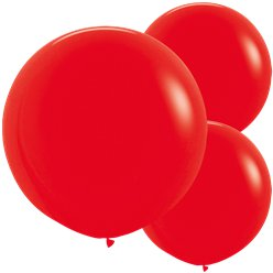 "Red Balloons - 24"" Latex"