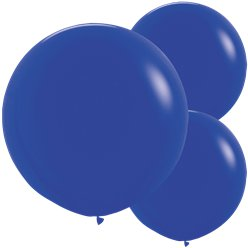 "Royal Blue Balloons - 24"" Latex"