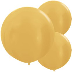 "Metallic Gold Balloons - 24"" Latex"
