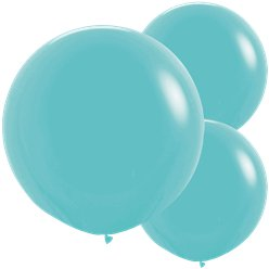 "Caribbean Blue Balloons - 24"" Latex"
