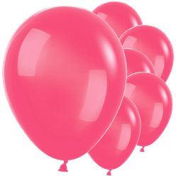 "Raspberry Red Balloons - 12"" Latex"
