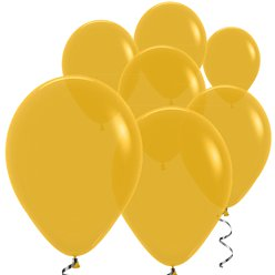 "Mustard Balloons - 5"" Latex"