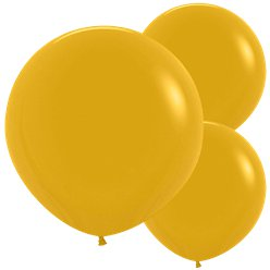 "Mustard Balloons - 24"" Latex"