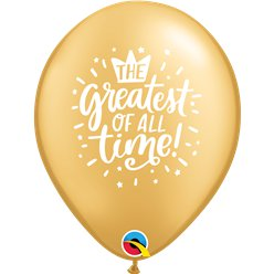 "The Greatest of All Time Balloons - 11"" Latex"