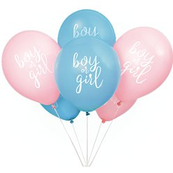 "Boy Or Girl Gender Reveal Balloons - 12"" Latex"
