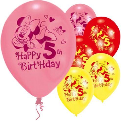 Minnie Mouse 5th Birthday Balloons