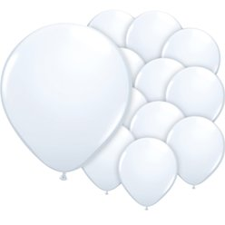 "White Balloons - 5"" Latex"