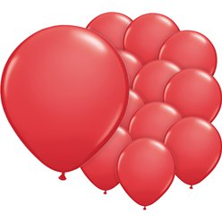 "Red Balloons - 5"" Latex"