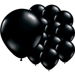 Onyx Black Balloons - 5'' Latex