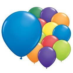 Carnival Assortment Balloons - 5'' Latex