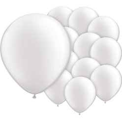 "White Balloons - 5"" Pearl Latex"