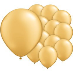 "Gold Balloons - 5"" Metallic Latex"