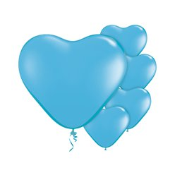 "Pale Blue Heart Balloons - 6 "" Latex"