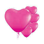 "Wild Berry Heart Balloons - 6"" Latex"