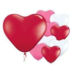 "Valentines Heart Balloons - 6"" Latex"