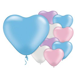 "Heart Pearl Assorted Balloons - 6"" Latex"